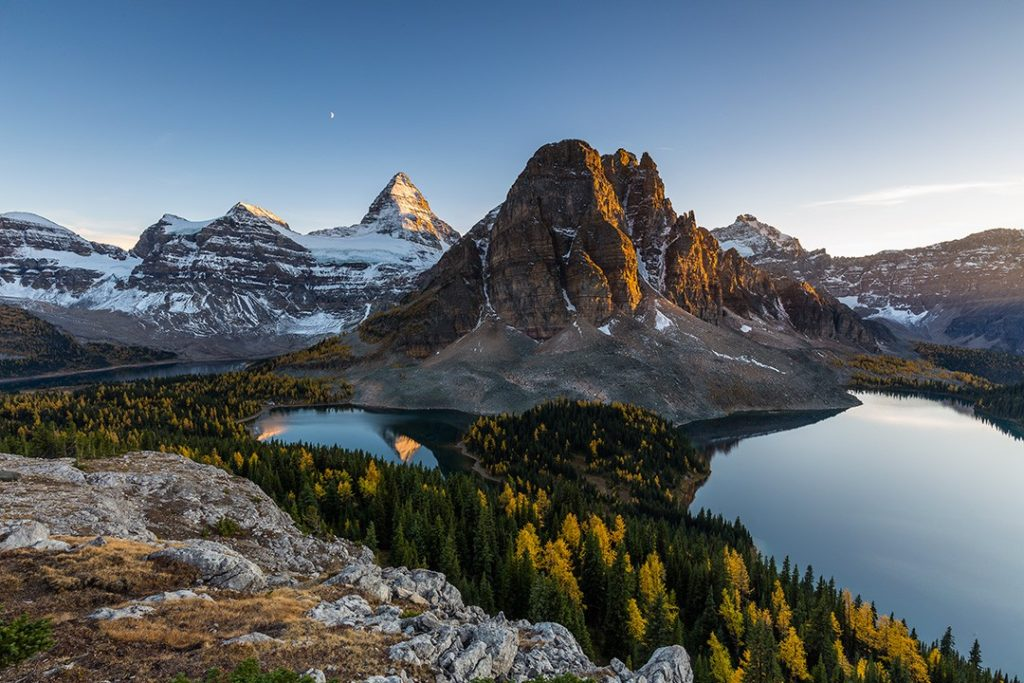 Mount Assiniboine is know as Canada's Matterhorn