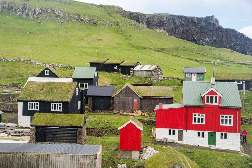 the town of mykines, faroe islands