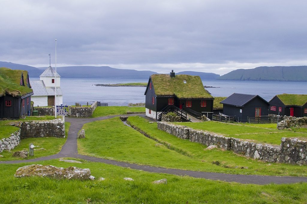 turf roofs in the Faroe Islands