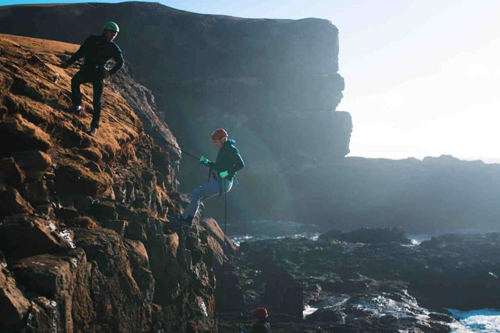 things to do in the Faroe Islands climbing