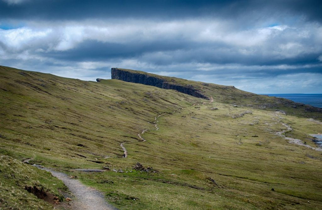 Beautiful but treeless view in the Faroe Islands