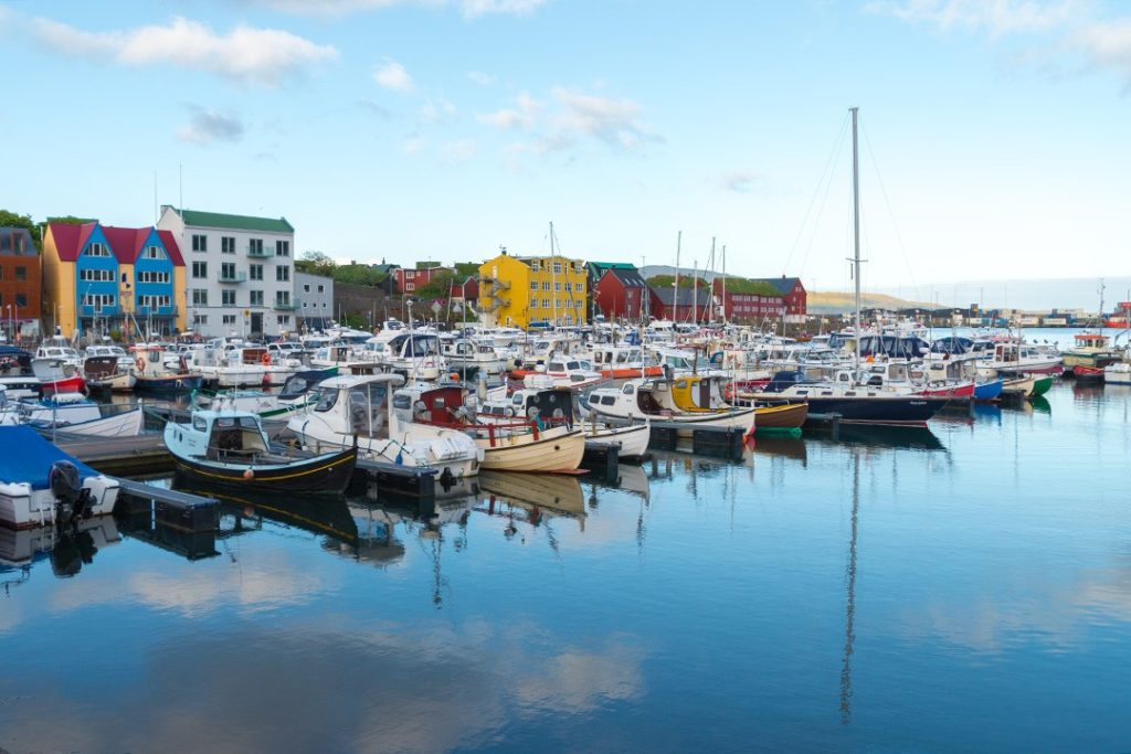 Free parking is available in the capital of Tórshavn