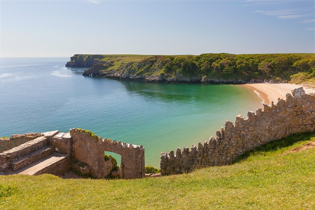 there are excellent beaches in the national parks in wales
