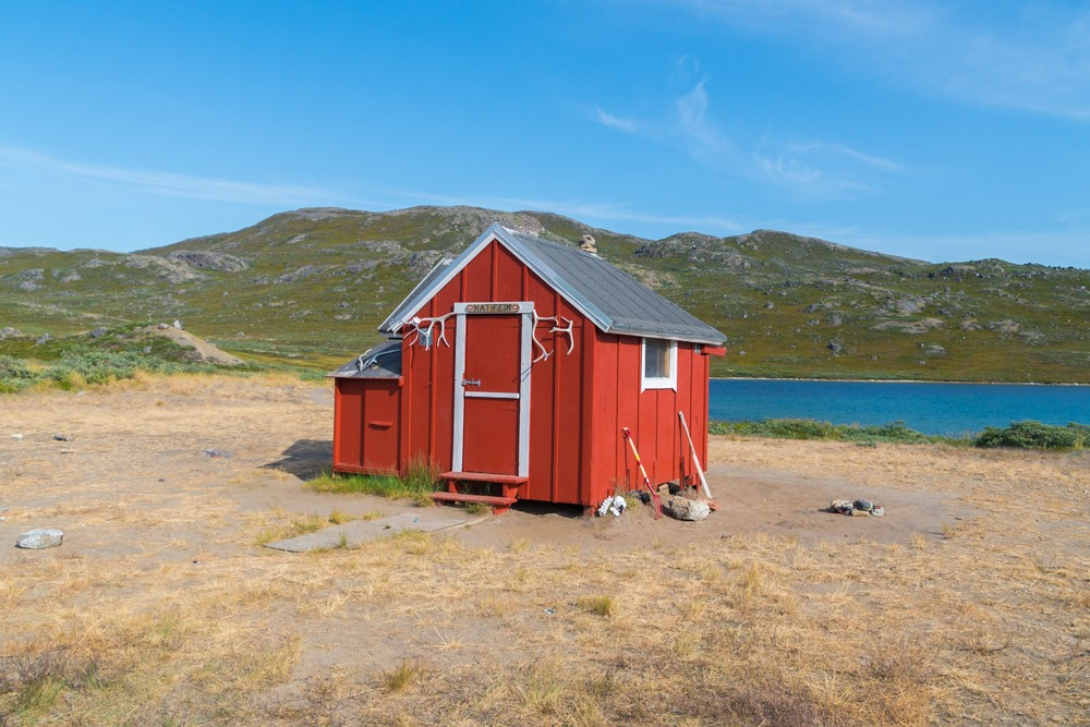 Katiffik hut seen while trekking the arctic circle trail