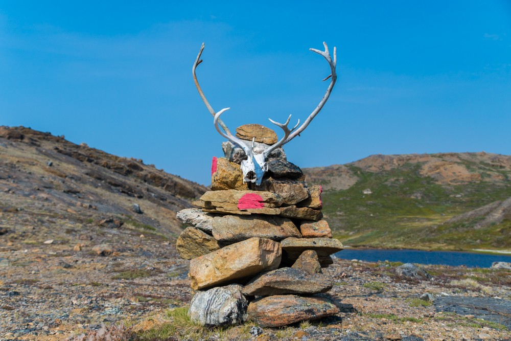 a cairn along the arctic circle trail