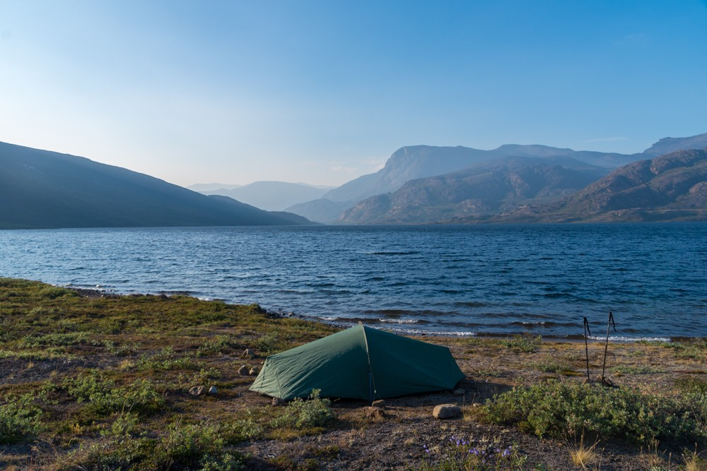 camping while trekking the arctic circle trail