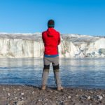 watching the wall while visiting the Greenland ice sheet and Russell Glacier