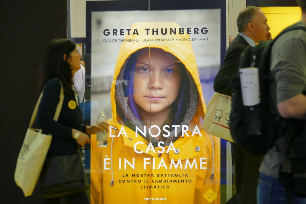 Greta Thunberg on a poster