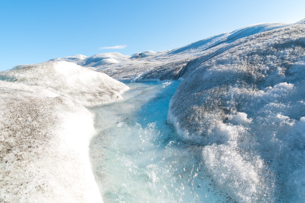 streams seen while visiting the Greenland ice sheet and Russell Glacier