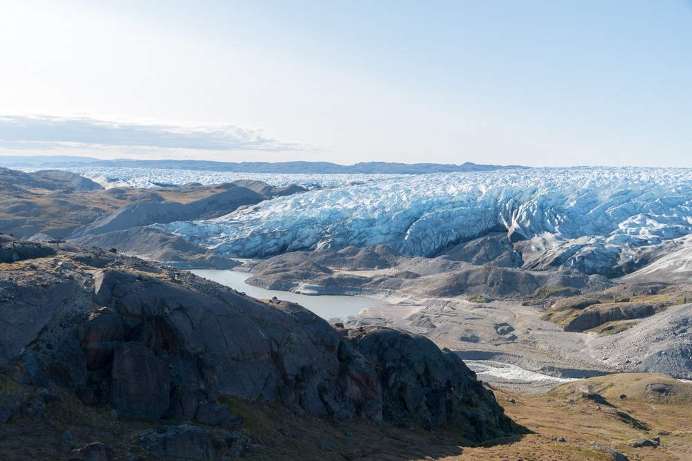 The Greenland ice sheet covers 80% of the country