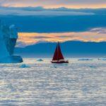 midnight sun iceberg sightseeing ilulissat sailboat