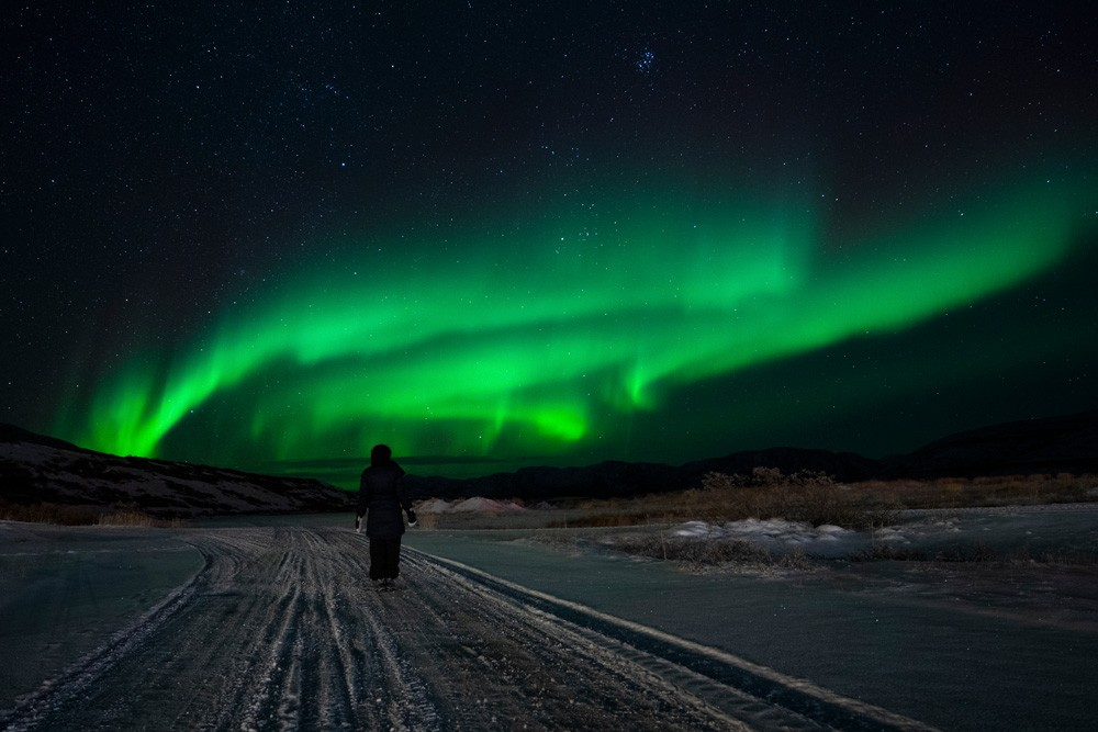 northern lights seen from Kangerlussuaq