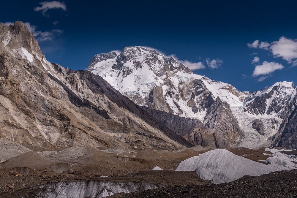 My first view of Broad Peak on the K2 base camp trek