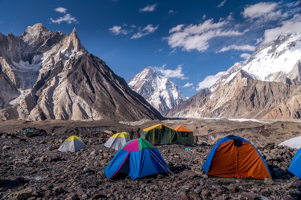 Our view from the K2 base camp trek