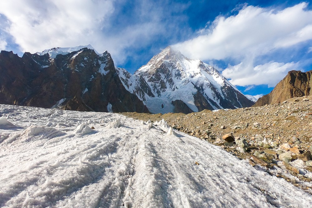 The long walk to and from K2 during the K2 base camp trek