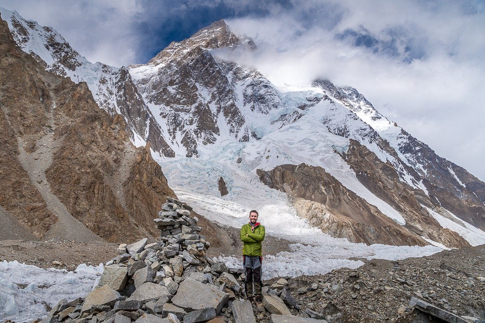 Peter at K2 base camp trek