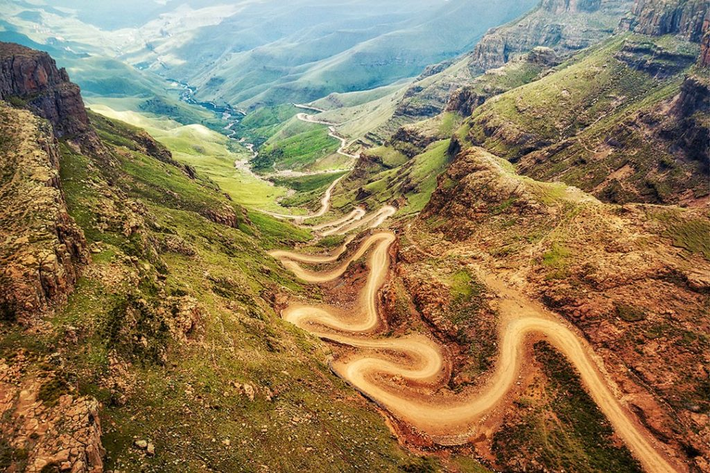 The hairpinned Sani Pass in Lesotho: mispronounced country names