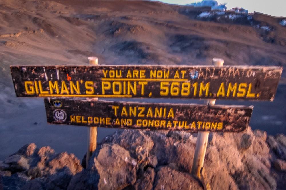Climbing Kilimanjaro gilmans point