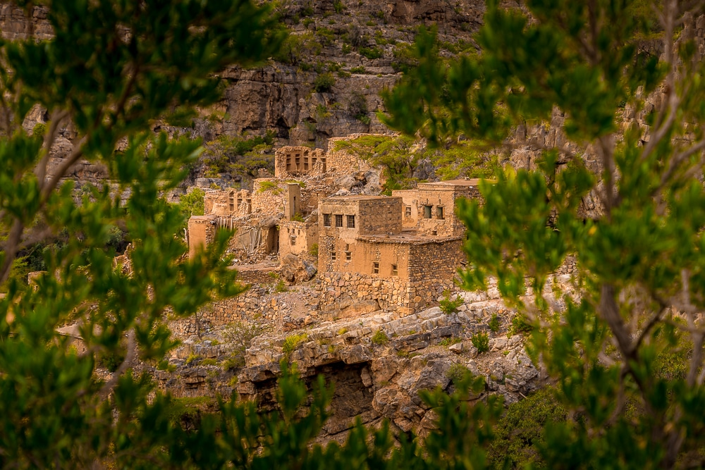 The abandoned village of Wadi Bani Habib