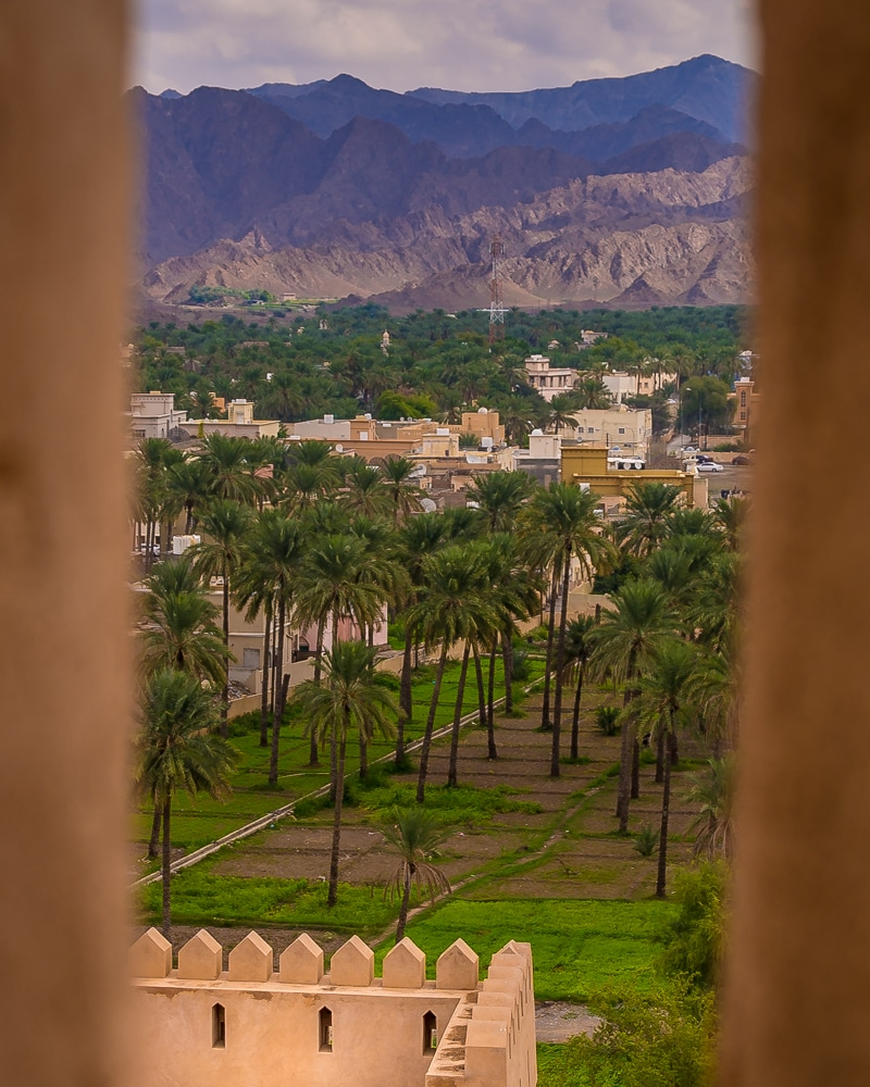 The view from Al Rustaq Fort – one of the best things to do in Oman