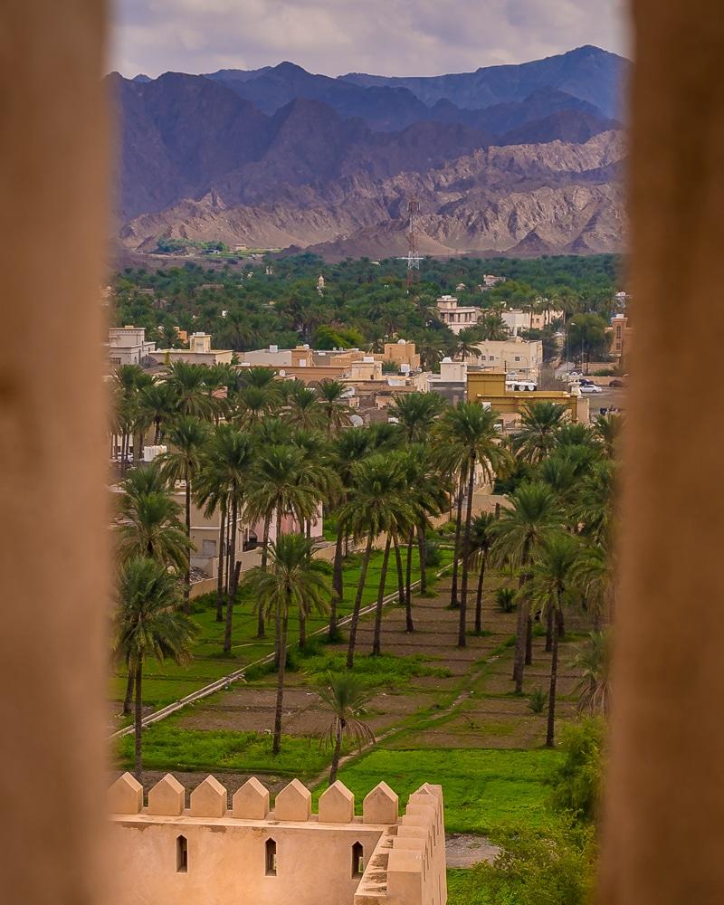 La vue depuis Fort Al Rustaq: l'une des meilleures choses à faire à Oman