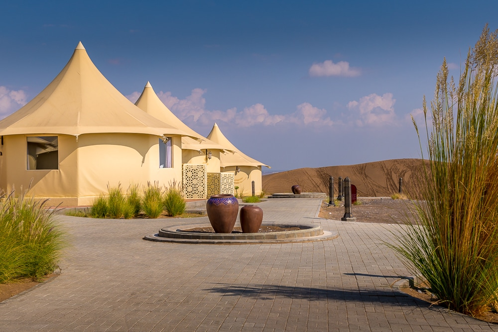 Dunes by Al Nahda tents
