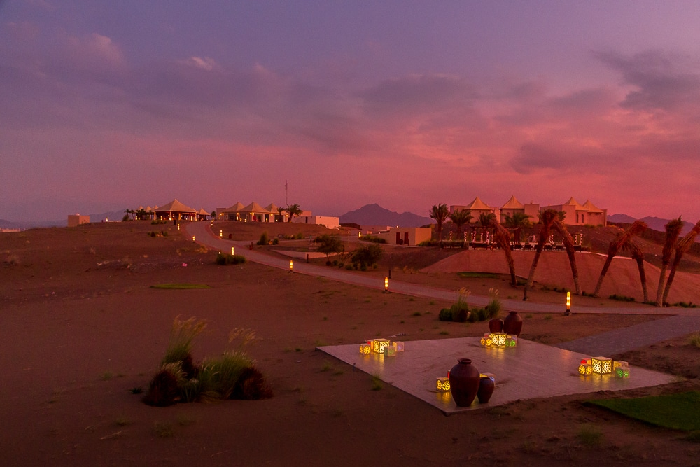 Dunes by Al Nahda in the twilight