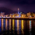 The Muttrah Corniche at night