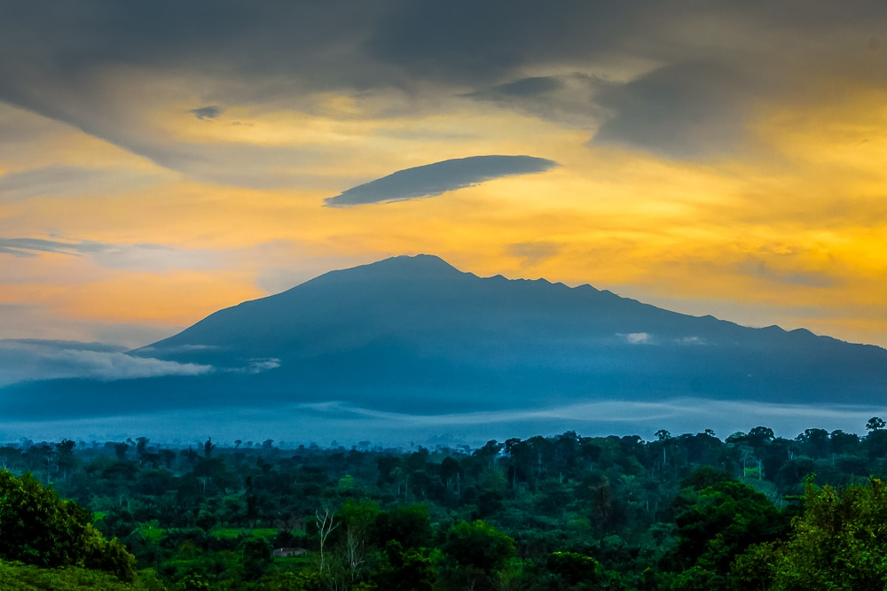 Mount Cameroon at sunset