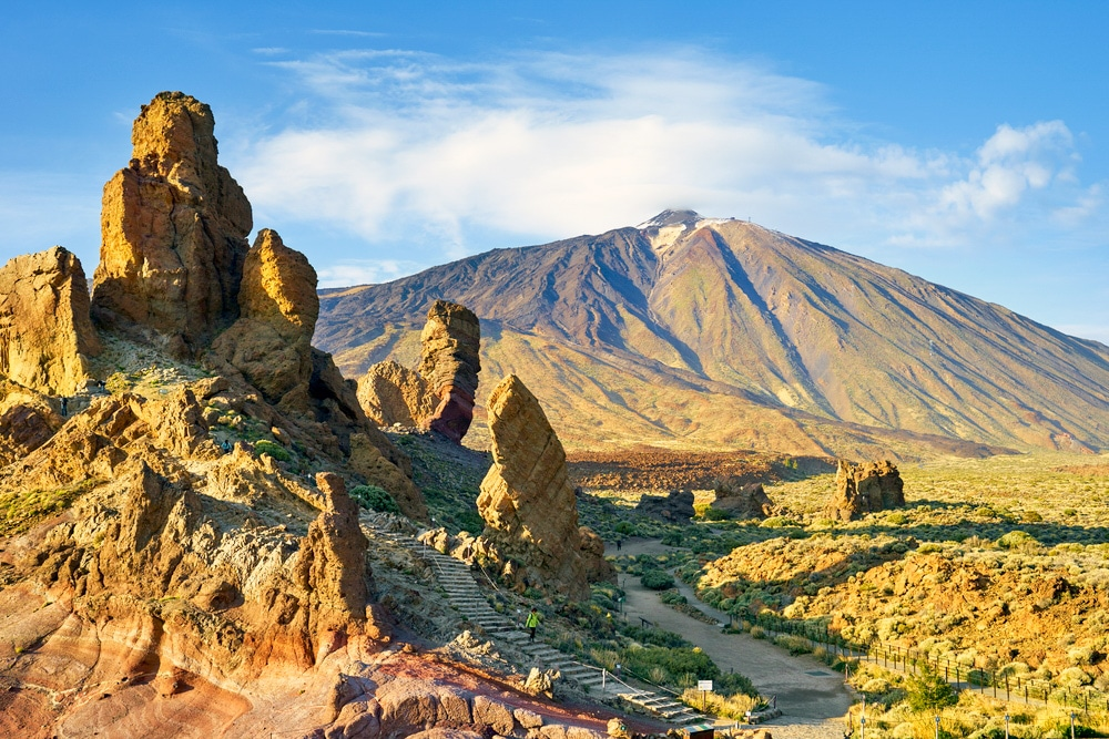 Mt Teide is the highest peak in Spain