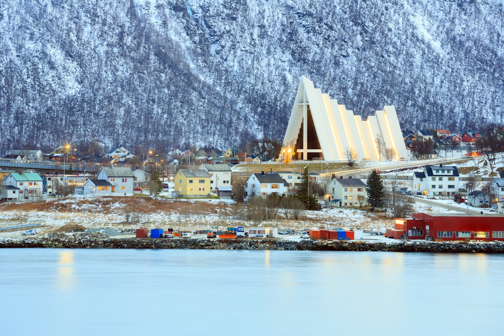 A view of Tromsø across the sound