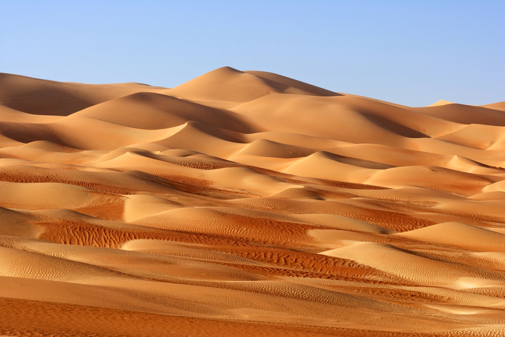 Rub' al Khali sand dunes