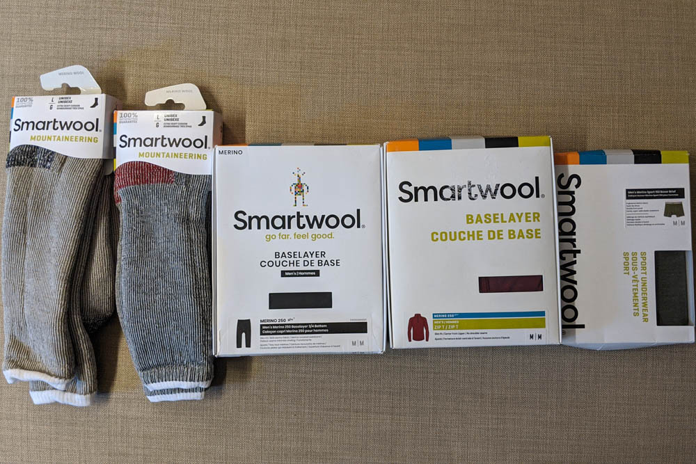 My collection of Smartwool kit
