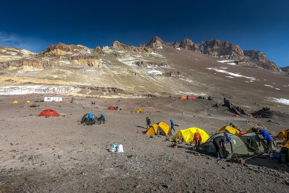 Camp 2 while climbing Aconcagua