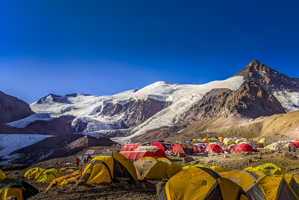 base camp Climbing Aconcagua