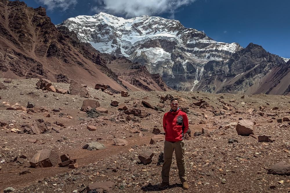 La cara sur del Aconcagua