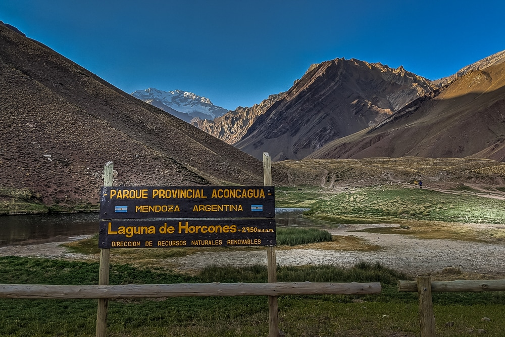 Aconcagua is located within Parque Provincial Aconcagua