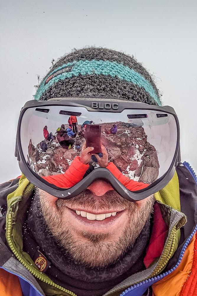 Gafas de la lista de equipo del Aconcagua