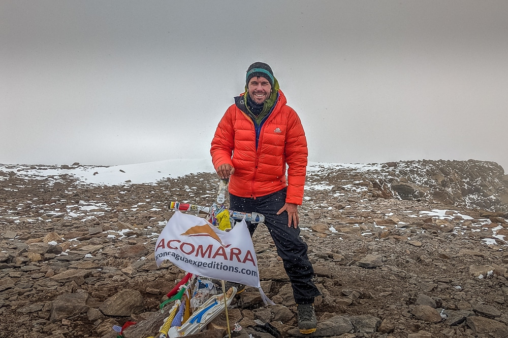 On the summit of Aconcagua
