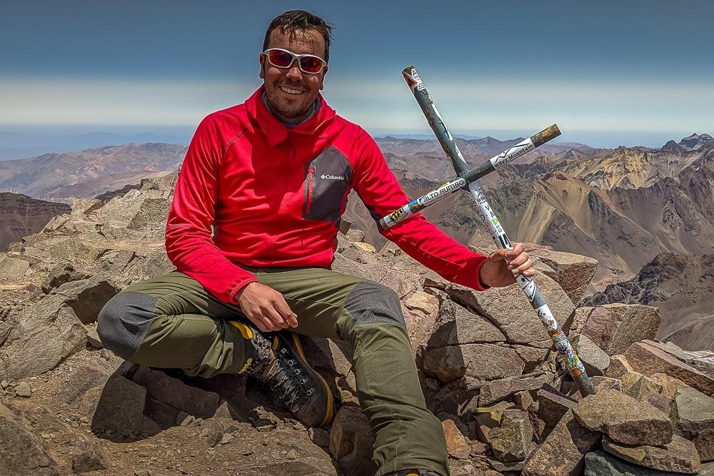 The summit of Bonete while climbing Aconcagua