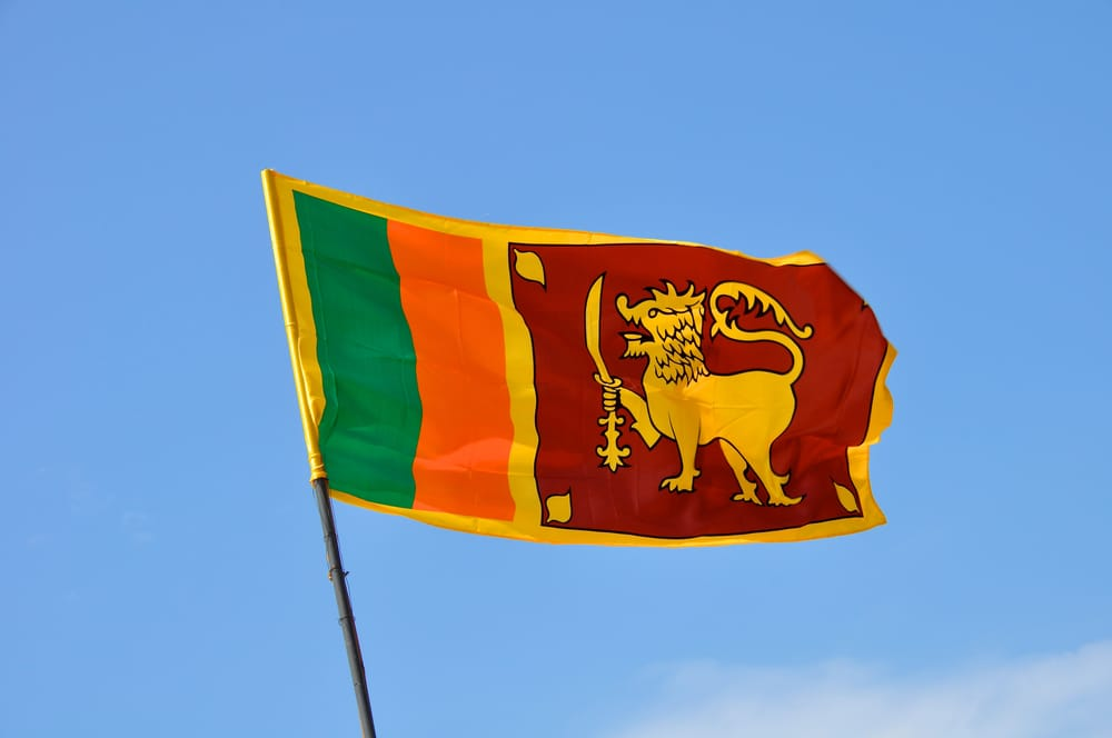 The colourful and rather complicated Sri Lankan flag