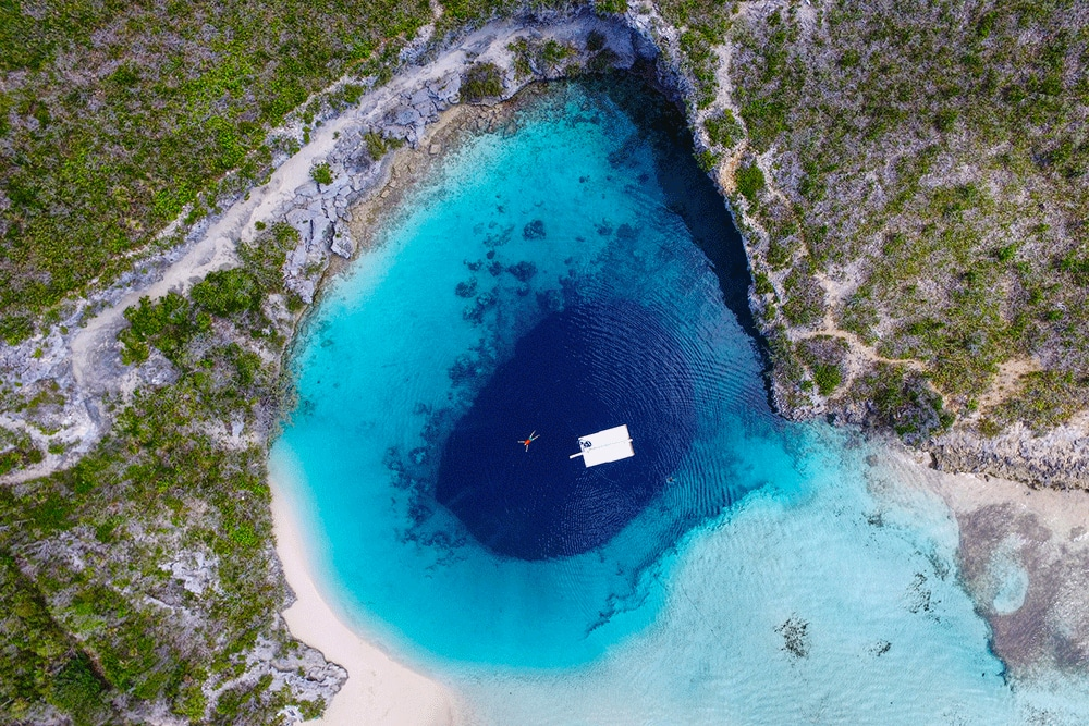 Dean's Blue Hole in The Bahamas