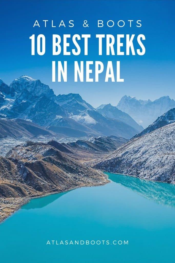 10 Best treks in Nepal pin
