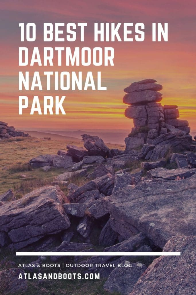 best hikes in Dartmoor National Park Pinterest Pin