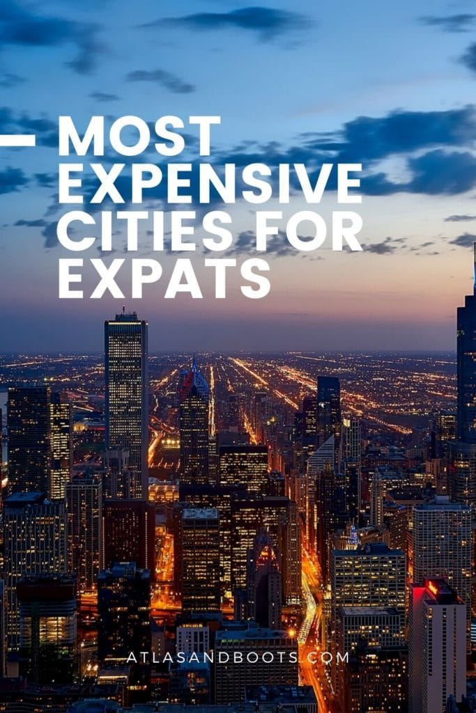 most expensive cities for expats pinterest pin