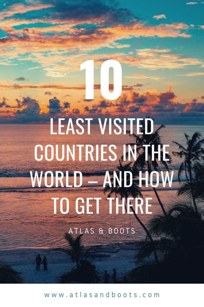 least visited countries Pinterest pin