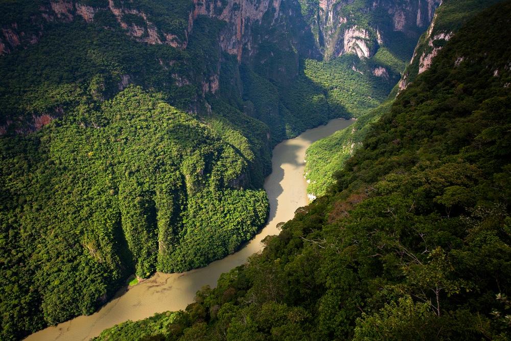 El Cañón del Sumidero en México, uno de los países megadiversos del mundo