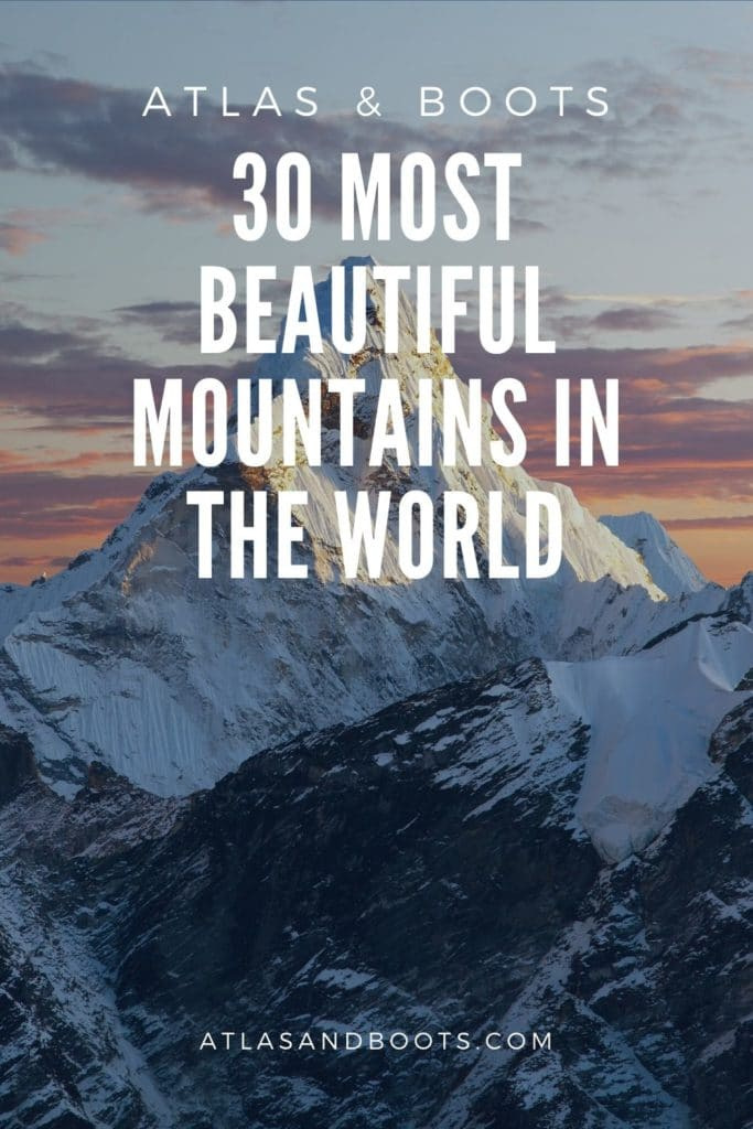 most beautiful mountains in the world Pinterest pin