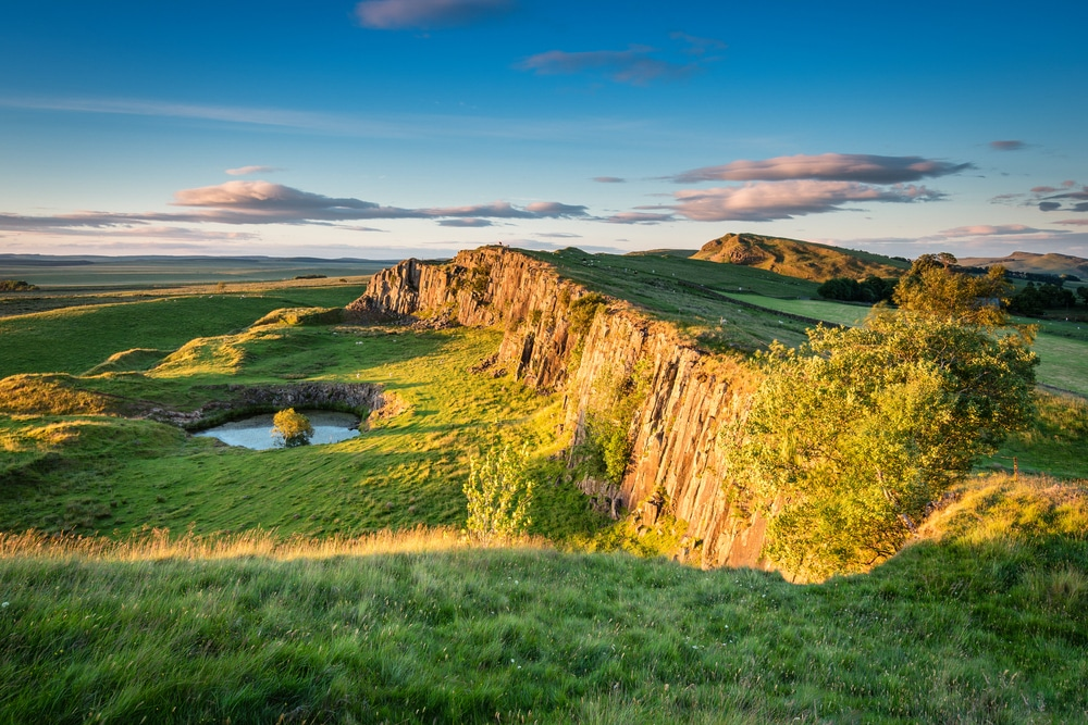 The Pennine Way follows part of the Hadrian's Wall Path