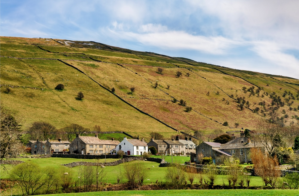 The village of Buckden in Upper Wharfdale